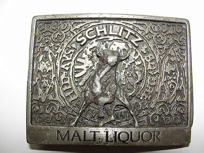Schlitz Malt Liquor,Advertising For Jos.schlitz Brewing Co. Old Beer Belt Buckle