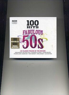 100 Hits - Fabulous 50S - Dean Martin Doris Day Guy Mitchell - 5 Cds - New!!