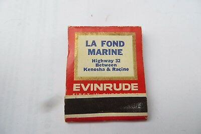 LA FOND MARINE Evinrude first in outboards, 2 year warranty full matchbook