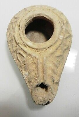 Zurqieh - As11953- Ancient Byzantine Terracotta Oil Lamp. 600 - 700 A.d