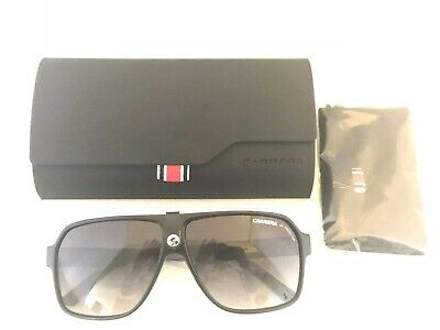 f6ad370186c8 Carrera 33/S 8V69O Black Crystal Gray Aviator Sunglasses Dark Gray Lenses