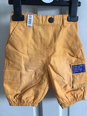 BNWOT Designer Sample Jeans. Boys. Age 6-12 Months. Lightweight. Orange
