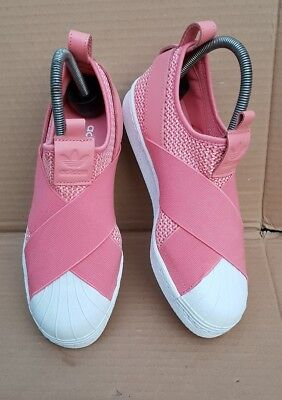 9117c7c46d3410 Bnib Adidas Superstar Slip On Trainers Coral Pink Size 4 Uk With Box Brand  New