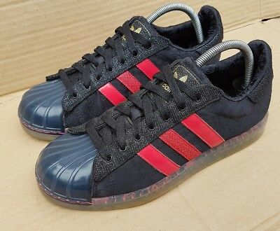 finest selection 8a5e2 5409f ADIDAS SUPERSTAR CLR 7 Sins Of Sole Trainers Black And Red Size 7.5 Uk Rare  Mint