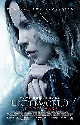 Underworld Blood Wars movie poster : 11 x 17 inches : Kate Beckinsale Poster (d)