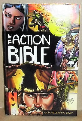 The Action Bible Illustrated By Sergio Cariello Hardcover Book