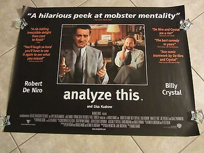 Analyze This Affiche Film Robert de Niro, Billy Crystal