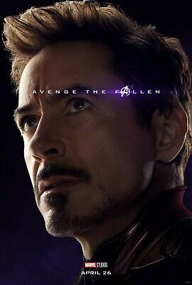 Avengers Endgame Affiche Film - 11 X 17 - Iron Man, Robert Downey Jr