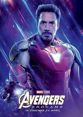 Avengers Endgame Affiche Film - 11 X 17 - Iron Man (B) Robert Downey Jr