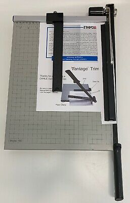 "Dahle 15e Vantage Paper Trimmer 15"" Cut Length 15 Sheet Automatic Clamp BOX"