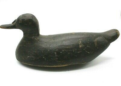 Original Antique Wood Hunting Decoy Long Duck Rustic Collectible Early 1900's