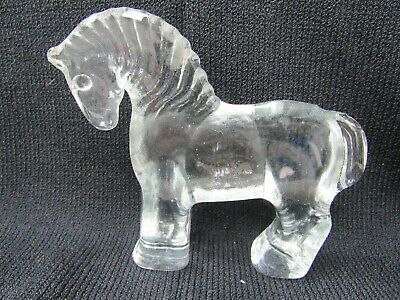 Intrepid International NEW Crystal Weight Etched Rearing Horse on base