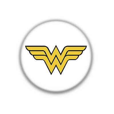 Chapa Super Heroes Logo Wonder Woman , Colección 38 mm ( 1.50 Inch )
