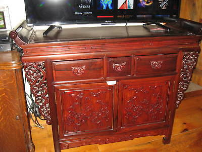 "Traditional Chinese Petit Cabinet Altar Table  49""  !! REDUCED FOR QUICK SALE !!"