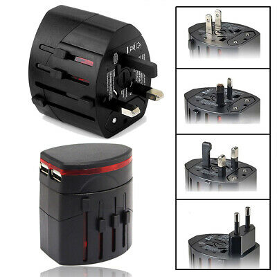 Adapter International Travel World Wide Multifunction Universal Dual USB Plug