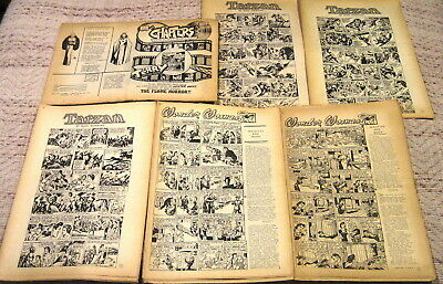 """chapters"" The Finest In Continuity Comic Strips N0 1-No 6 June-Nov 1980 Tarzan"