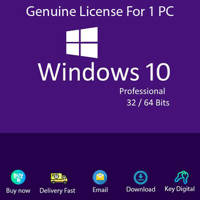Windows 10 Pro 32/64 bit Product Key Link Download Activation Genuine
