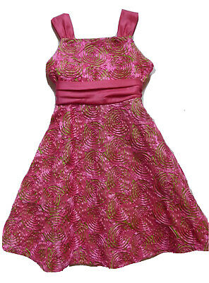 Rare Editions Girls Spring/Summer Bright Pink/Lime Green Party Dress Sz 12 NWT