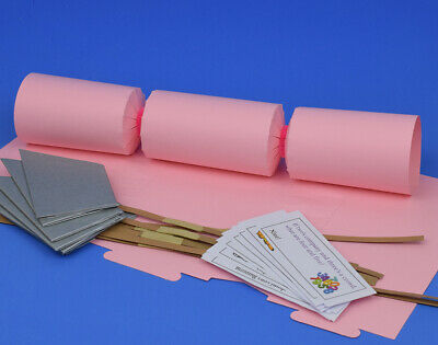 12 Flamingo Pink Make & Fill Your Own Cracker Kits