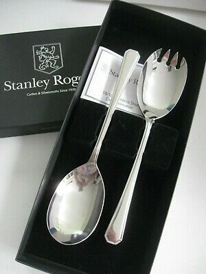 STANLEY ROGERS Grecian 2pc SALAD SERVERS- Fork & spoon