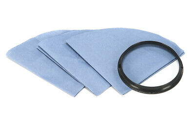 Shop-Vac 9010700 Reusable Dry Filter with  Mounting Ring, 3-Count