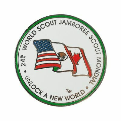 24th World Scout Jamboree 2019 USA Contingent Host Countries Pin Canada Mexico