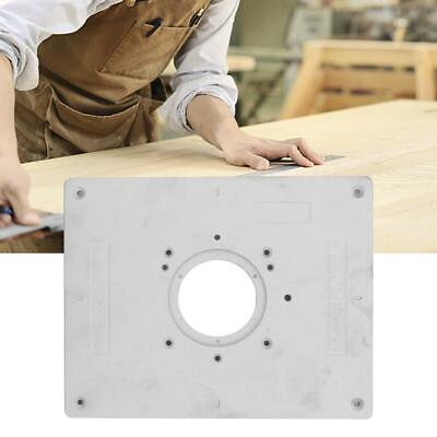 Aluminum Alloy Router Table Insert Plate with Rings and Screws for Woodworking