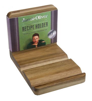 Jamie Oliver Bakeware Range Recipe Book and Tablet Holder, Acacia Wood/Natural