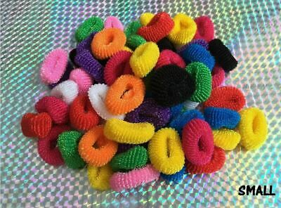 100 Mini Assorted Colour Elastic Baby Girls Kids Toddler Hair Bands Bobbles
