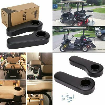 Rear Seat Arm Rest Cushion Cup Holder Black For EZGO Club Car Yamaha Golf Cart