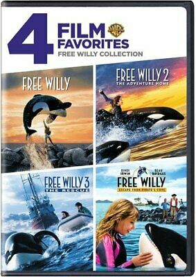 4 Film Favorites Free Willy 3 The Adventure Home Bindi Irwin DVD discs 2 NEW