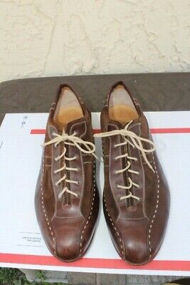 8fe91b43bdf Romano Martegani Men s BROWN Leather Oxford Shoes Made in Italy SIZE 17