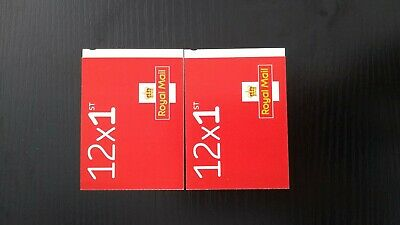 2 sets of 12 1st CLASS Stamps NEW Royal Mail Postage Stamp ( 24 stamps in total)