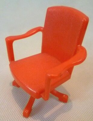 Vintage Dolls House Furniture - Renwal No.35 Plastic Swivel Chair - C1950s USA