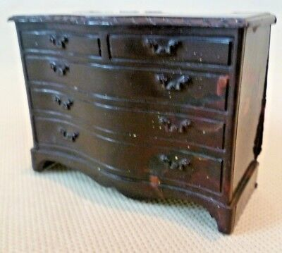 Vintage Dolls House Furniture - Renwal No.B.83 Chest Of Drawers Circa 1950s USA
