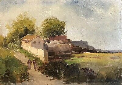 EUGENE GALIEN-LALOUE (1854-1941) SIGNED FRENCH OIL to £51,000 - FIGURES WALKING