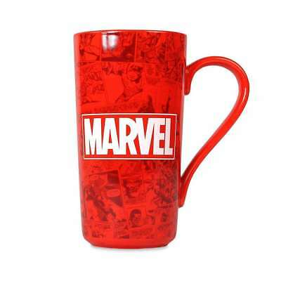 Official Marvel Comic Strip Red Large Latte Mug Coffee Cup New And Gift Boxed