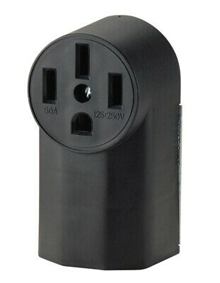 Cooper Wiring 1212 3-Pole 4-Wire Surface Mount Range Power Receptacle, Black