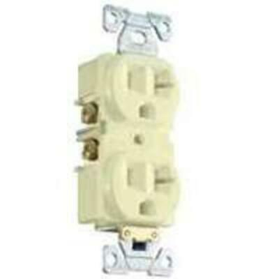 Cooper Wiring BR20A Commercial Duplex Receptacles, 20 Amp, Almond