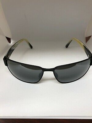 f8ef8962acbb New Maui Jim Black Coral 249-2M Polarized Sunglasses - Gray Lenses - Black  Frame