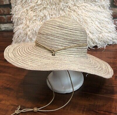 b1197a46 Vintage BoHo Hippie Festival CHIC Head Wear Wide Brim Floppy Sun Beach Hat  OS