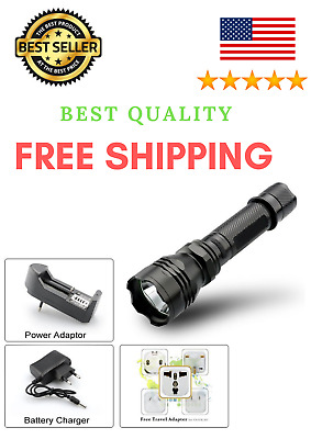 Cree LED Flashlight Rechargeable 18650 Torch Military Lumens Tactical Lamp NEW
