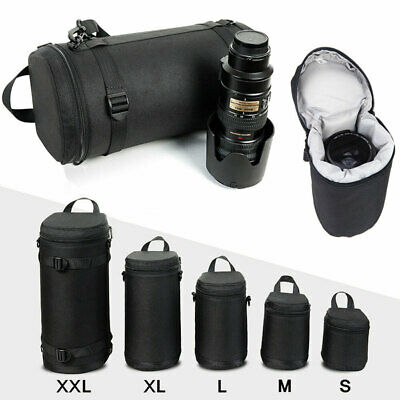 Waterproof Thick DSLR Camera Lens Pouch Bag Travel Case Covers For Canon Nikon