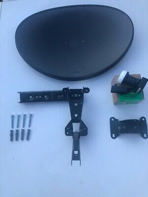 Express Mini Satellite Dish MK4 and Quad LNB For Sky HD Freesat PVR
