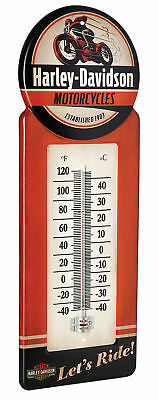 Harley-Davidson® Vintage Style Indoor Outdoor Thermometer (5.5x13.375) HDL-10098