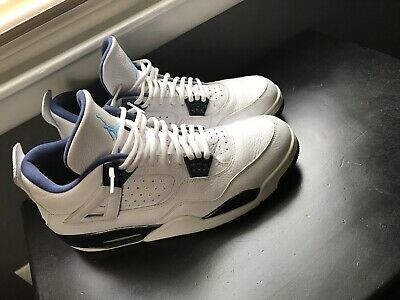 a7822215ce784d AIR JORDAN IV Retro Ls Used Size 13 White Legend Blue Midnight Navy ...