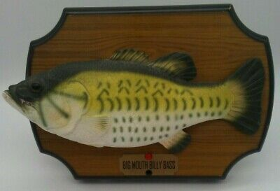 BIG MOUTH BILLY Bass Singing Fish Animated Sings 2 Songs Vintage Works SEE  VIDEO