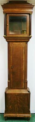 Antique English Solid Oak Grandfather Longcase Clock Case Only Spares Or Repair
