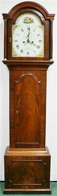 Antique English Mahogany 8 Day Jeffery Canterbury Grandfather Longcase Clock