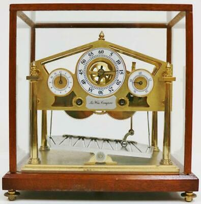 Rare Vintage Small Fine Quality English Congreve Mystery Automation Table Clock
